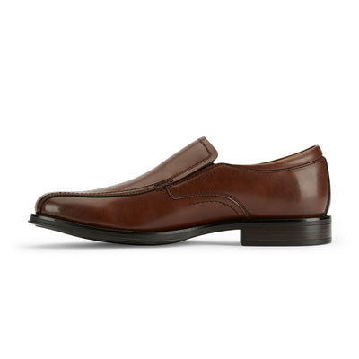 Brown-Dockers Mens Green Business Dress Run Off Toe Slip-on Comfort Loafer Shoe