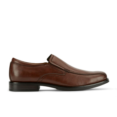 Brown-Dockers Mens Greer Business Dress Run Off Toe Slip-on Comfort Loafer Shoe