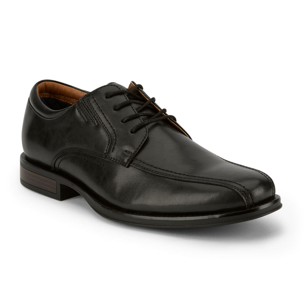 Black-Dockers Mens Geyer Business Dress Run Off Toe Lace-up Comfort Oxford Shoe