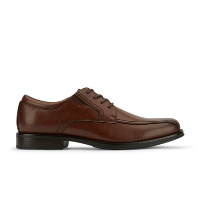 Brown-Dockers Mens Geyer Business Dress Run Off Toe Lace-up Comfort Oxford Shoe