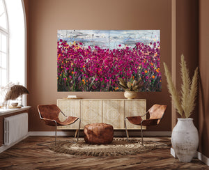Dream Seekers - Very large painting on two panels