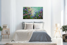 Sweet Wild Hydrangea - Large painting on two panels