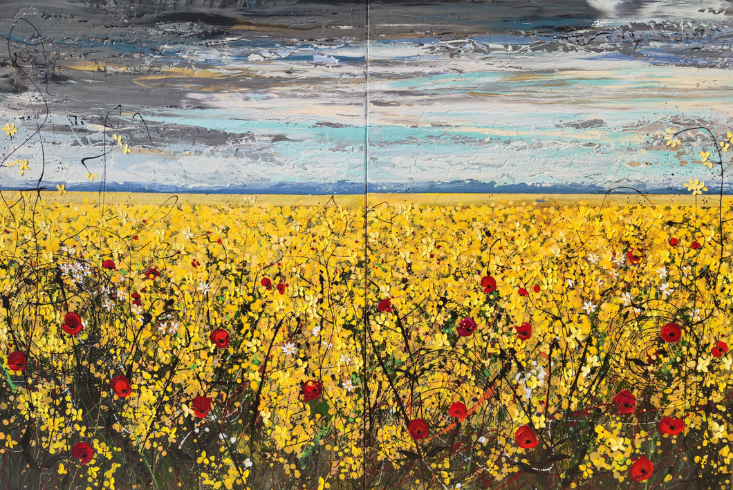 Perfect Day - Large painting on two panels