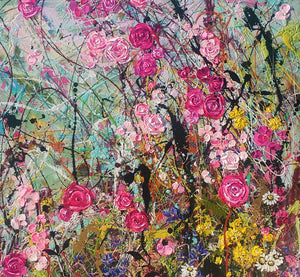 Sweet Tangled Rose Briar - Diptych