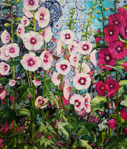 Summer Hollyhocks