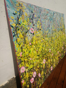 Symphony in Yellow - Large painting on two canvases