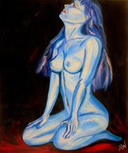 Study of a nude in blue