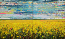 Elysium fields - Large painting on two panels