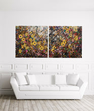 Flourish - Large painting on two panels