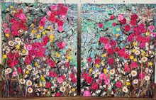 Eglantine - Large painting on two panels (Diptych)