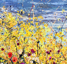 A Yellow Shout of Joy - Large painting on two panels