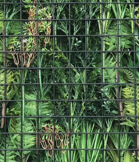 White Meadow | Premier Vertical Garden Screening Metal Backing
