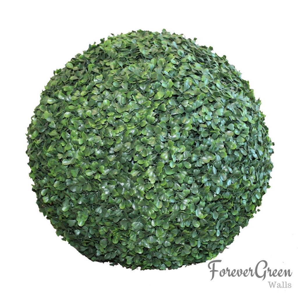 Artificial Topiary Ball - Green Boxwood | Forever Green Walls