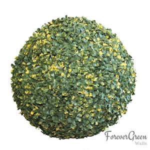 Artificial Topiary Ball - Variegated Boxwood | Forever Green Walls