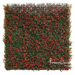 Red Boxwood | Artificial Plant Panel Artificial Plant Panel