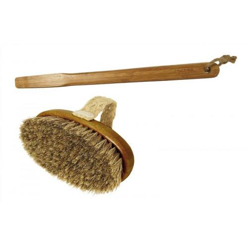 Hydrea Bamboo Bath Brush with Mane & Cactus Bristle Borstar & Svampar Hydrea London