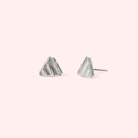 Sally - Imprint Triangle Studs