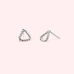 Zaha - Twisted Triangle Studs