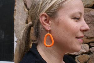 Rocky - Orange Arp Earring