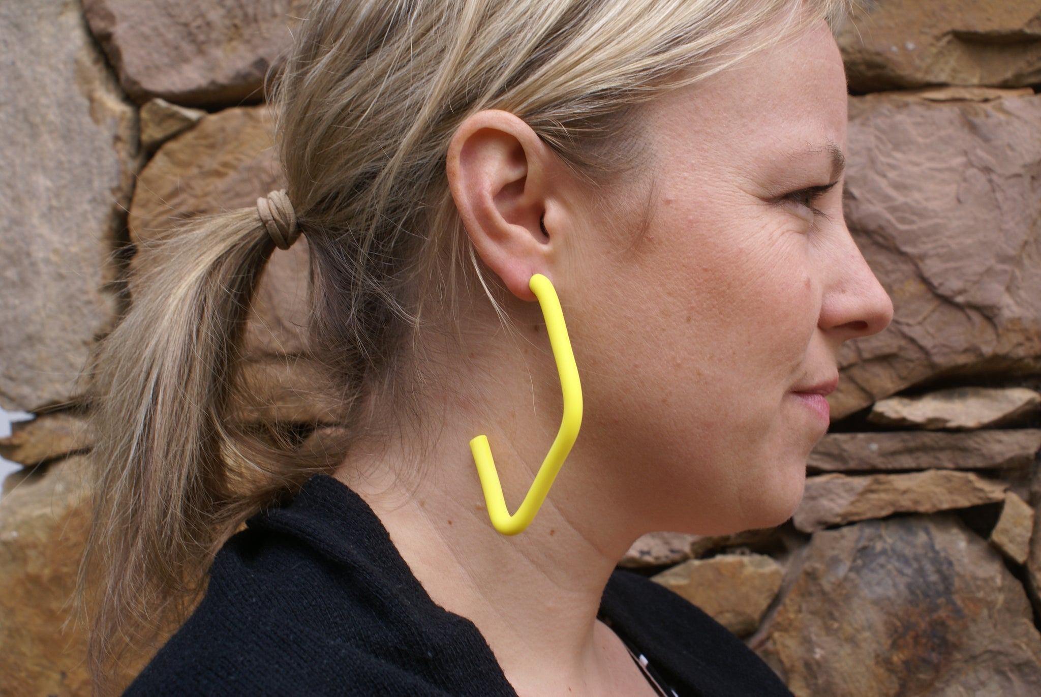Miin  - Yellow Diamond Hoops