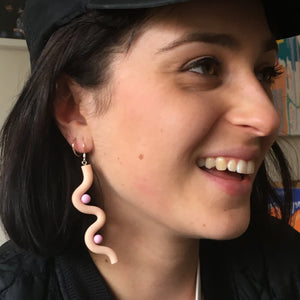 Boobs Earrings - Beige
