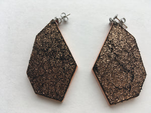 Cheryl - Copper and Apricot Leather Polygon