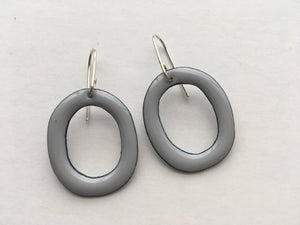 Julia - Pastel Grey Enamel Hoops