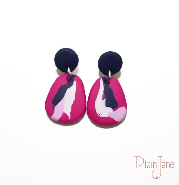 AOC - Navy and Hot Pink Dangles