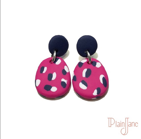 Marianne - Navy Small Dangles