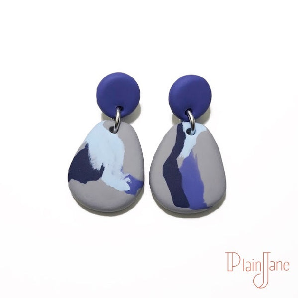 Jacinda - Lavender and Grey Dangles