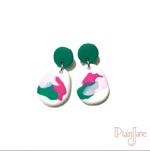 Goodall - Green and White Dangles