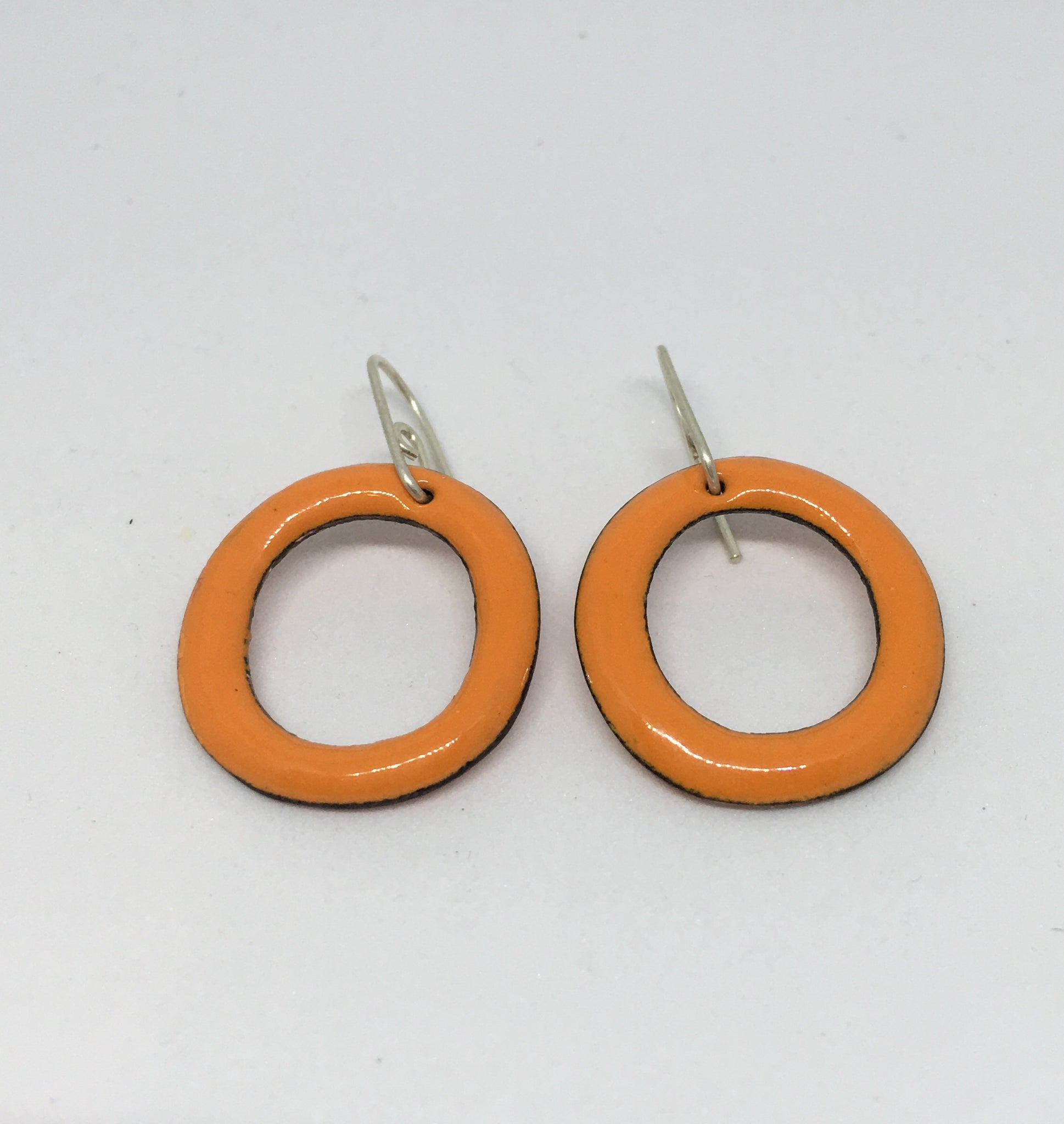 Strada - Orange Enamel Hoops