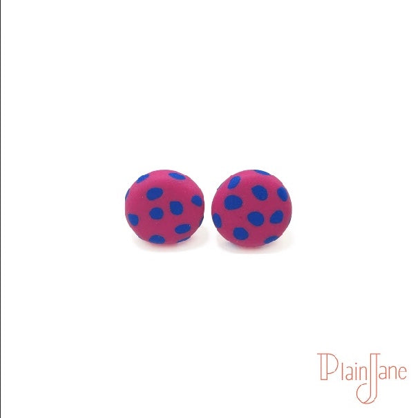 Gilmore - Pink and Navy studs
