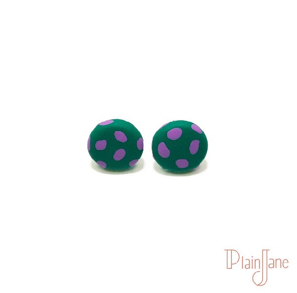 Steele - Green and Purple Studs