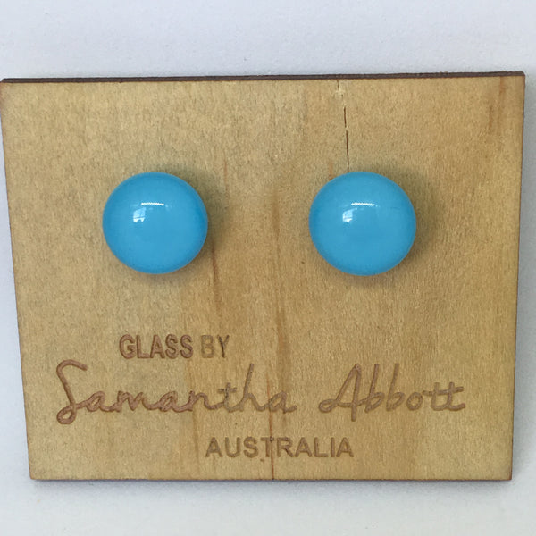 Kitty - Pale Blue Studs