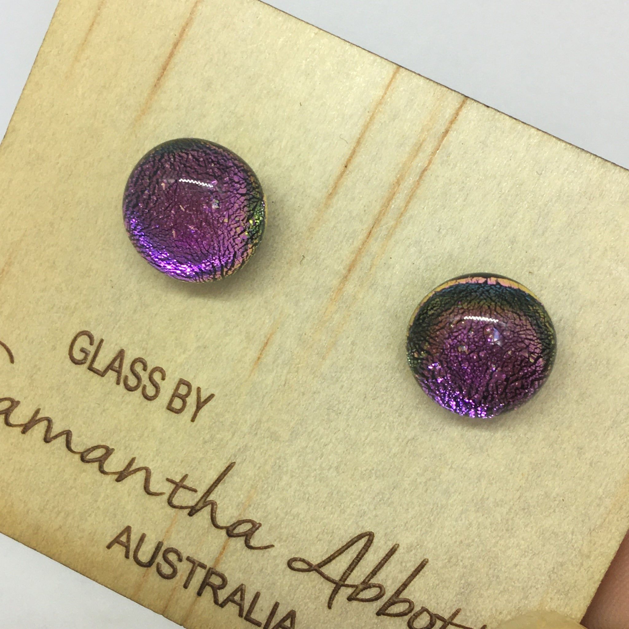 Luminous Purple Studs