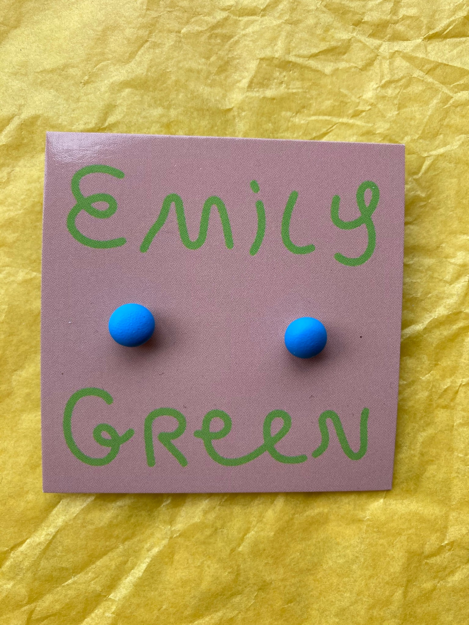 Bright Blue Mini Stud Earrings