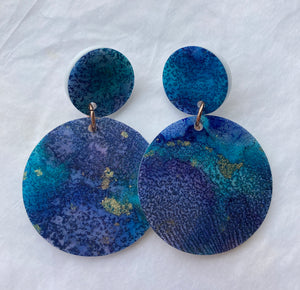 Mermaid Blue Circle Dangles
