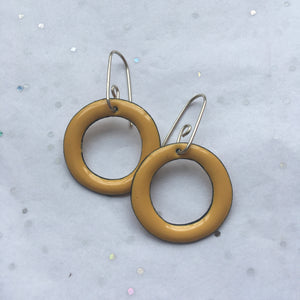 Monte - Yellow Enamel Hoops