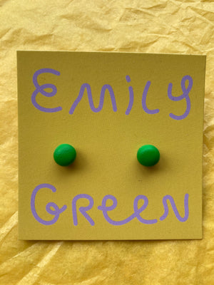 Apple Green Mini Stud Earrings