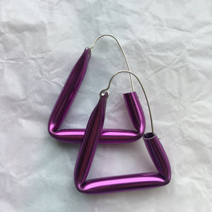 Violet Short Straw Earrings