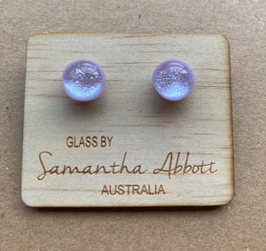 Soft Lilac Shimmer Studs