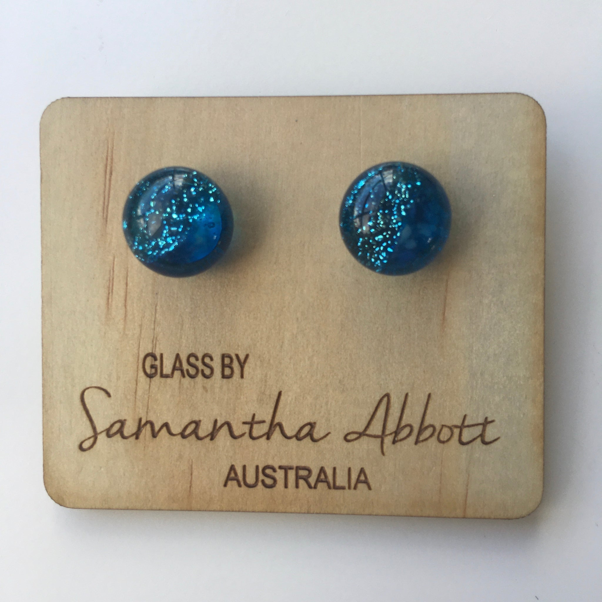 Brilliant Sparkly Blue Studs