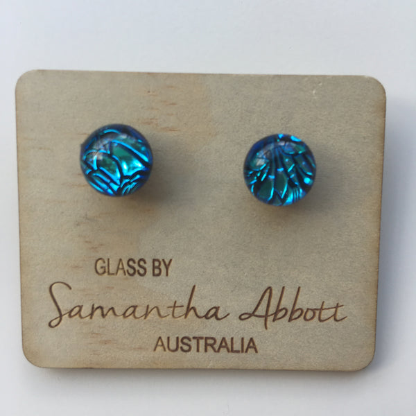 Blingy Blue Studs