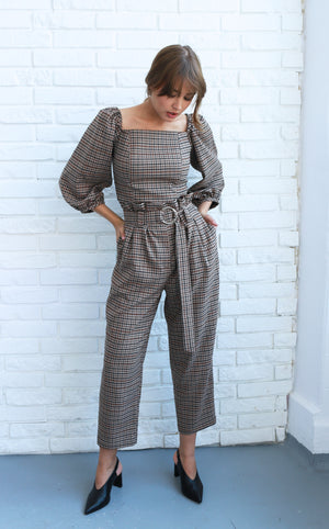 "Set plaid wool ""Bella"""