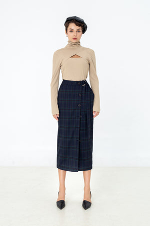 LAGEMMA Cut-out Turtleneck in beige