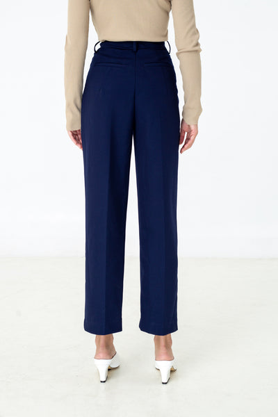 LAGEMMA layered pants in navy