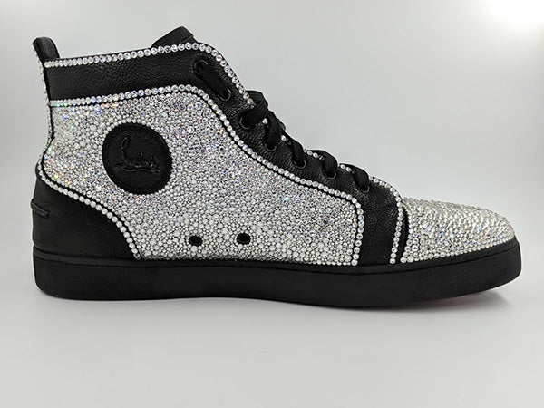 online store 27bb6 0c5c1 Custom Swarovski Men's Louboutin Sneaker - The Ice Queen