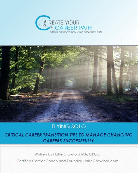 "$5.99 - HallieCrawford.com's ""Critical Career Transition Tips for Professionals"" - E-book"