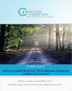 "$7.99 - HallieCrawford.com's ""Critical Career Transition Tips for Professionals"" - Paperback"